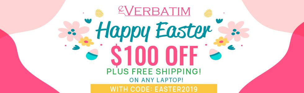 eVerbatim Easter Sale!